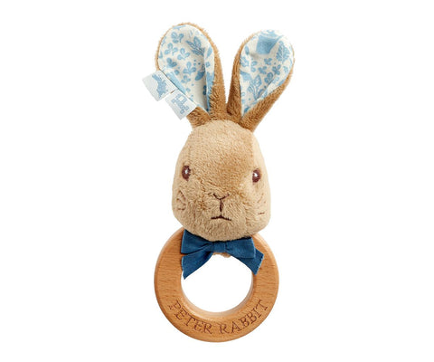 Luxury Peter & Flopsy Bunny Ring Rattle - Hetty's Baby Boutique