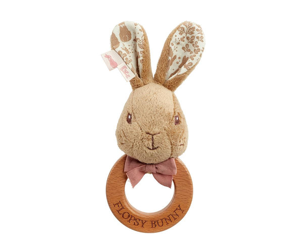 Luxury Peter & Flopsy Bunny Ring Rattle