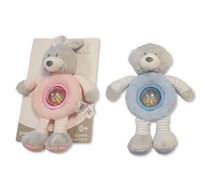Rabbit Or Bear Ring Rattle with Balls - Hetty's Baby Boutique