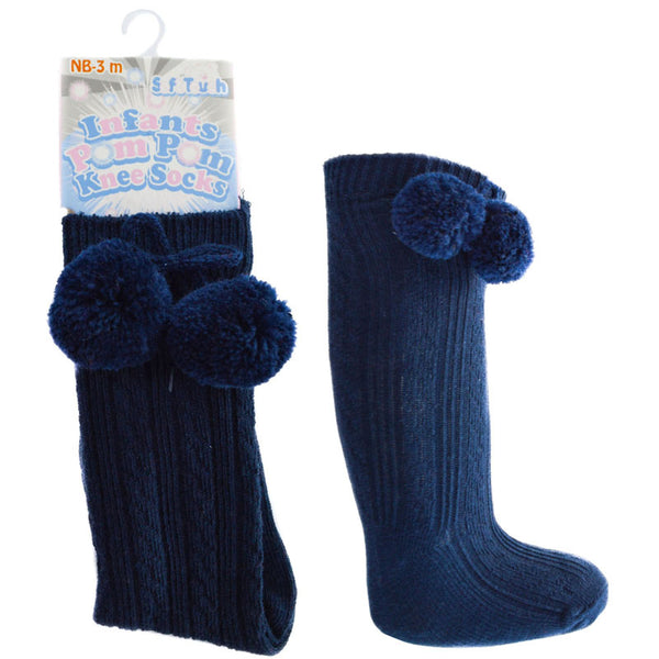 Pom Knee High Socks - Various Colours - Hetty's Baby Boutique