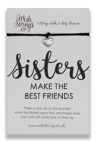 Sisters Make the Best Friends Wish String Bracelet - Hetty's Baby Boutique