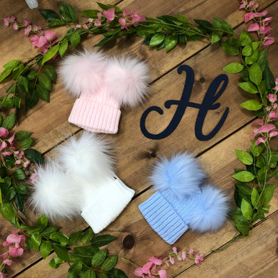 Charlie Double Pom Pom Hats - Hetty's Baby Boutique