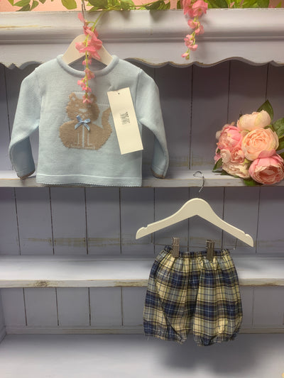 Boys two piece checked short set - Hetty's Baby Boutique