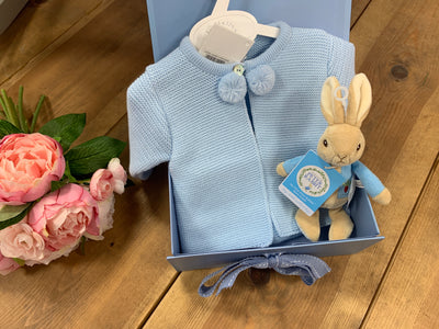 Baby Boy Pramsuit & Toy Gift Set - Hetty's Baby Boutique