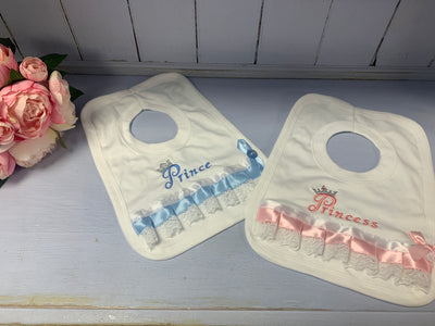 Prince & Prince Ribbon Bibs - Hetty's Baby Boutique