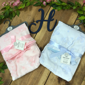 Blue or Pink Supersoft Baby Wrap Blankets - Hetty's Baby Boutique
