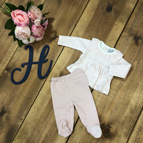 Boutique Pink and White Stripe 2 Piece Set - Hetty's Baby Boutique