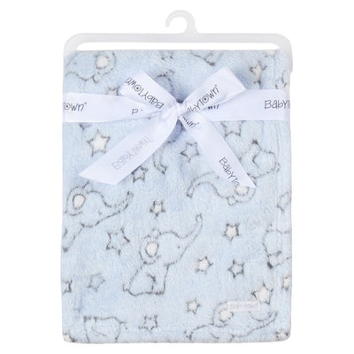 Elephant Pink or Blue cosy blanket - Hetty's Baby Boutique