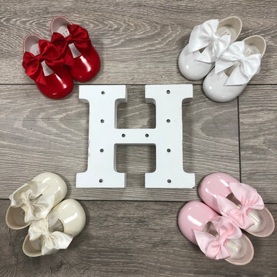 """Amelia"" Soft Sole Bow Shoes - Hetty's Baby Boutique"