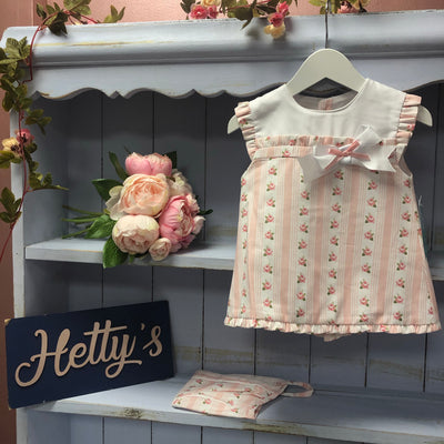 Spanish Boutique Rose Bud Bow Dress - Hetty's Baby Boutique