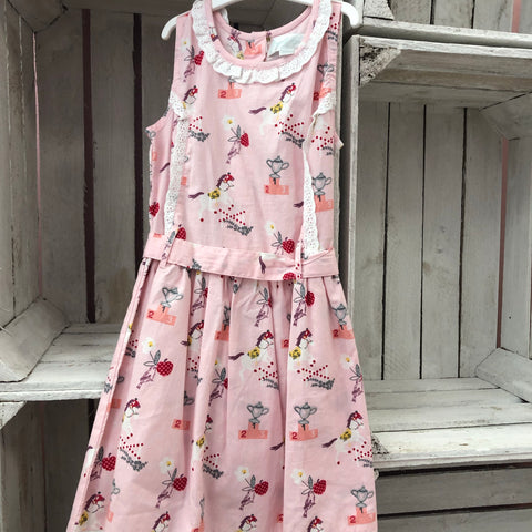 """Stevie"" Pink Equestrian Theme Dress"