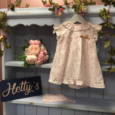 Baby Pink Bumblebee Dress - Hetty's Baby Boutique