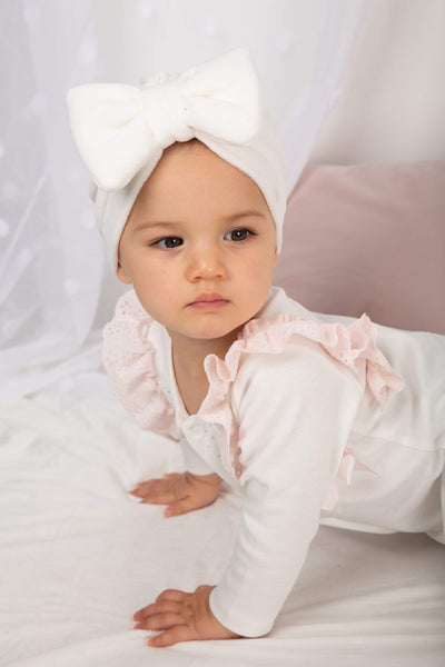 Caramelo Luxury Velour Bow Turbans - Hetty's Baby Boutique