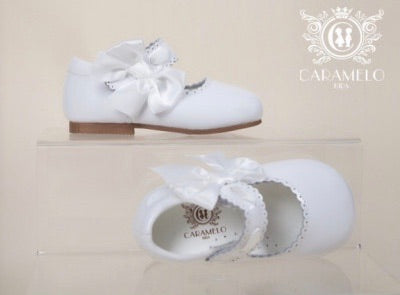 Caramelo Mary Jane Bow Leather Shoes - Hetty's Baby Boutique