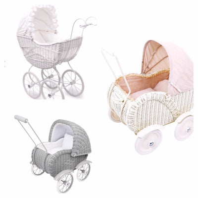 Pink & White Premium Pram - Hetty's Baby Boutique