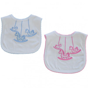 Carousel Rocking Horse Bib - Hetty's Baby Boutique