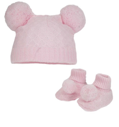 Pom Hat And Booties Set - Hetty's Baby Boutique