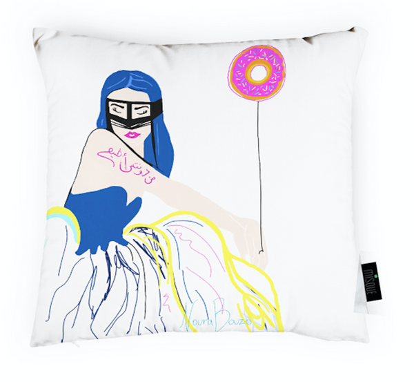 Min Donuts Woman - Pillow