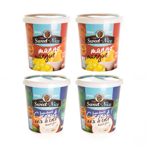 Mixed 4 pack: Coconut + Mango
