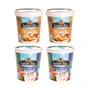Mixed 4 Pack: Coconut + Rum and Raisin