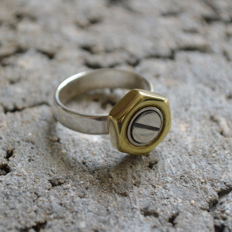 Bolts And Nuts Ring Junktion Jewelry