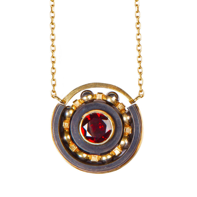 Garnet Ball Bearing pendant