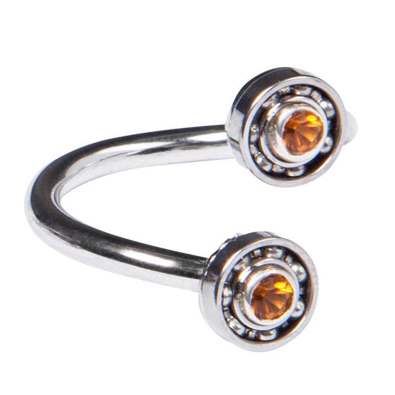 Double Citrine Ball Bearing ring