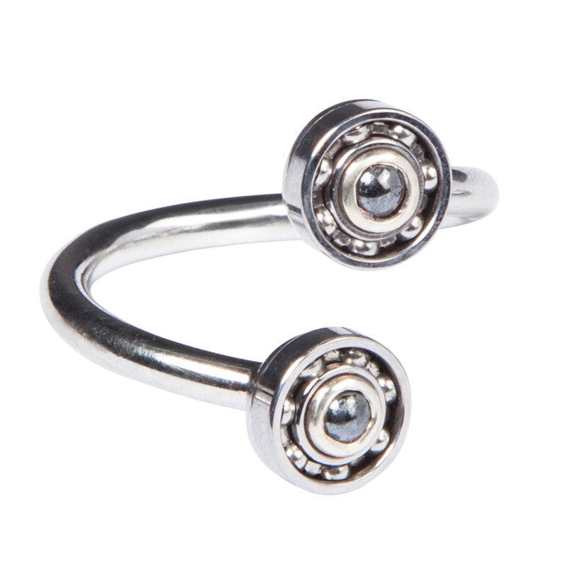 Double Hematite Ball Bearing ring