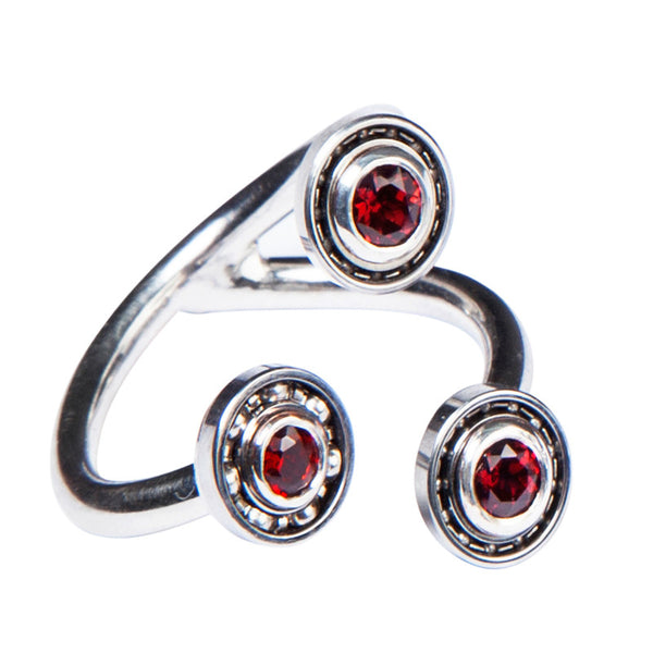 Triple Garnet Ball Bearing ring