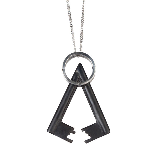 Metal key pendant