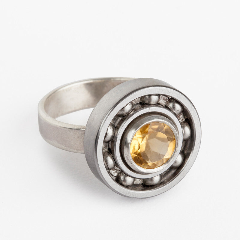 Citrine Ball Bearing ring