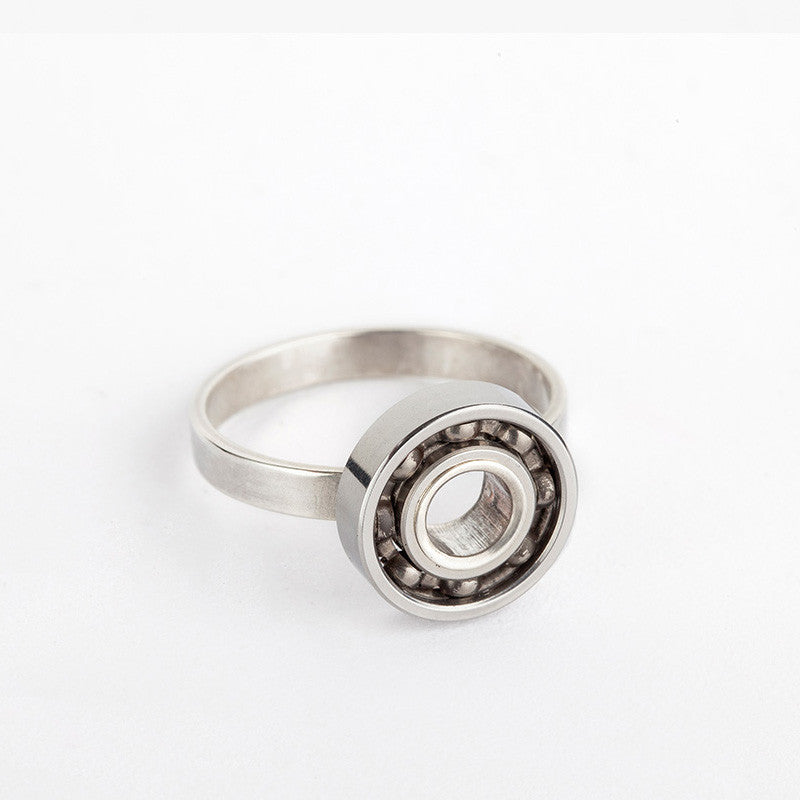 Silver Ball Bearing ring