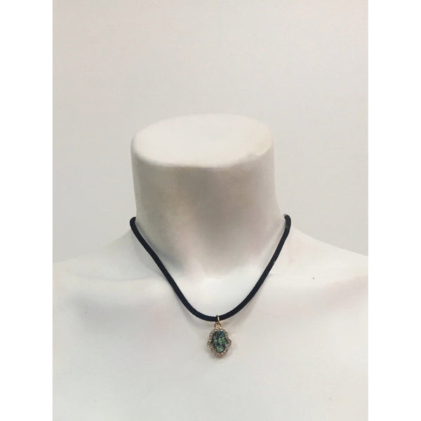 Suede Pendant Necklace
