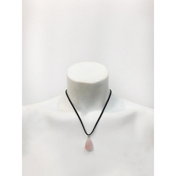 Suede Gemstone Necklace