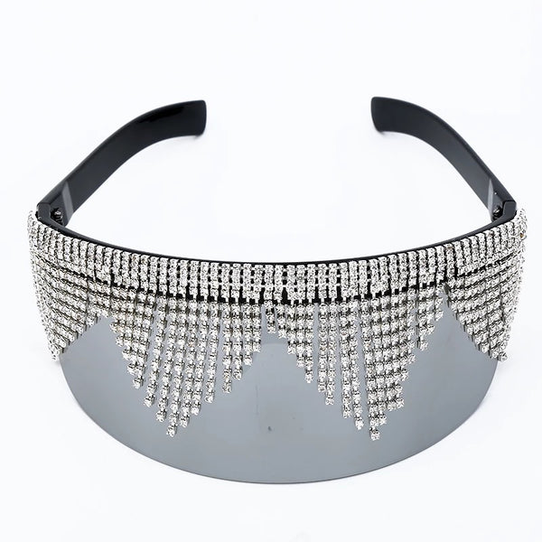 Diamanté Visor Sunglasses