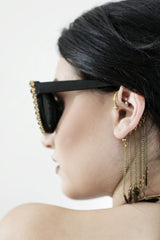 Dangling Brass Ear Cuff