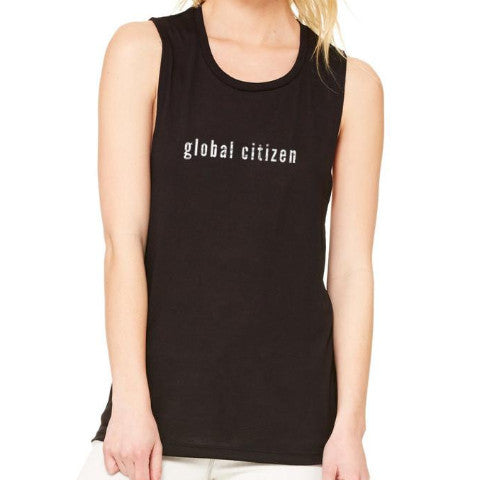 GLOBAL CITIZEN MUSCLE TANK BLACK