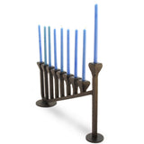 9 Candle Handmade Iron Chanukah Menorah 2 Bases Design