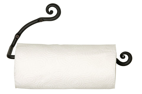 Wrought Iron Two Swirls Wall Mount Paper Towel Holder
