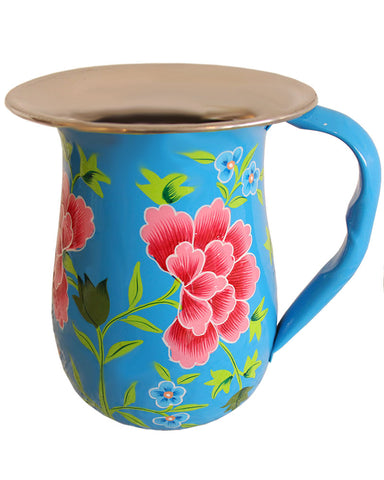 Hand Painted Stainless Steel Cold Drink Pitcher