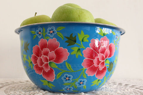 Confident Painted Salad Bowl Decorative Arts
