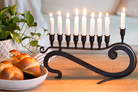 9 Candle Handmade Iron Chanukah Menorah