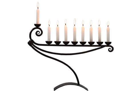 Decorative iron Hanukkah Menorah