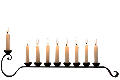 9 Candle Blacksmith Handmade Iron Chanukah Menorah
