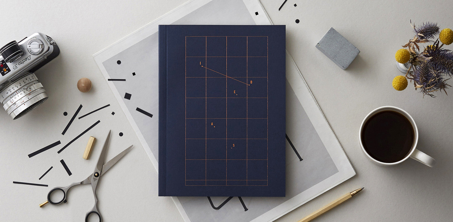 Ideas – Navy Blue Notebook with Copper Foil