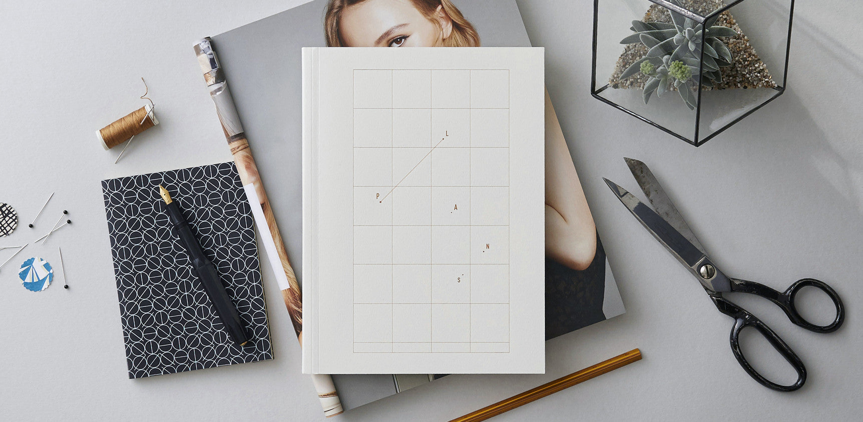 Plans – Natural White Notebook with Copper Foil