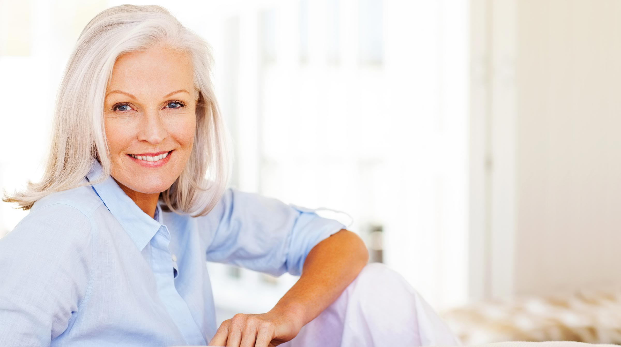 Older woman with great looking skin care