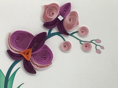 The Purple Orchid Card