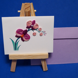purple orchid card, a wish for you