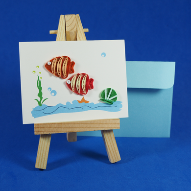 two fishes card, a wish for you
